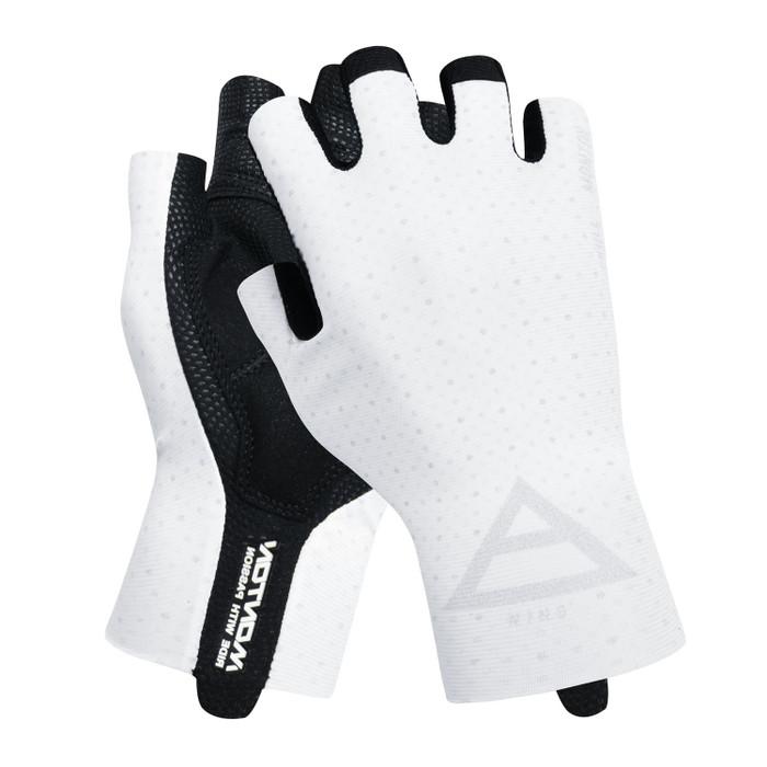 Lifestyle 2019 Wind half finger Gloves - white