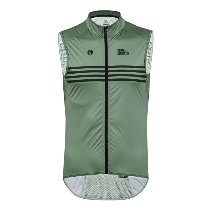 Men's Urban+ Colours Windproof Gilet - grey/green