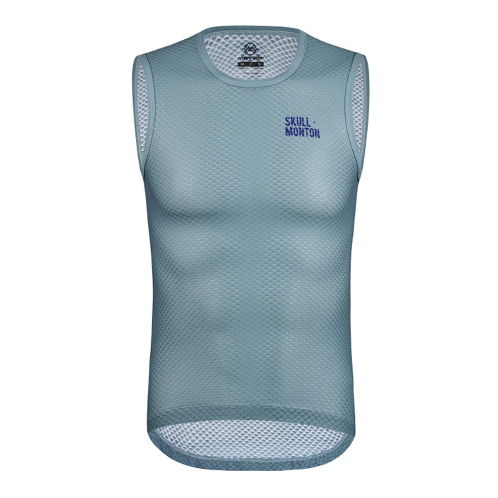 Men's Urban+ Colours Sleeveless Base Layer - light steel blue