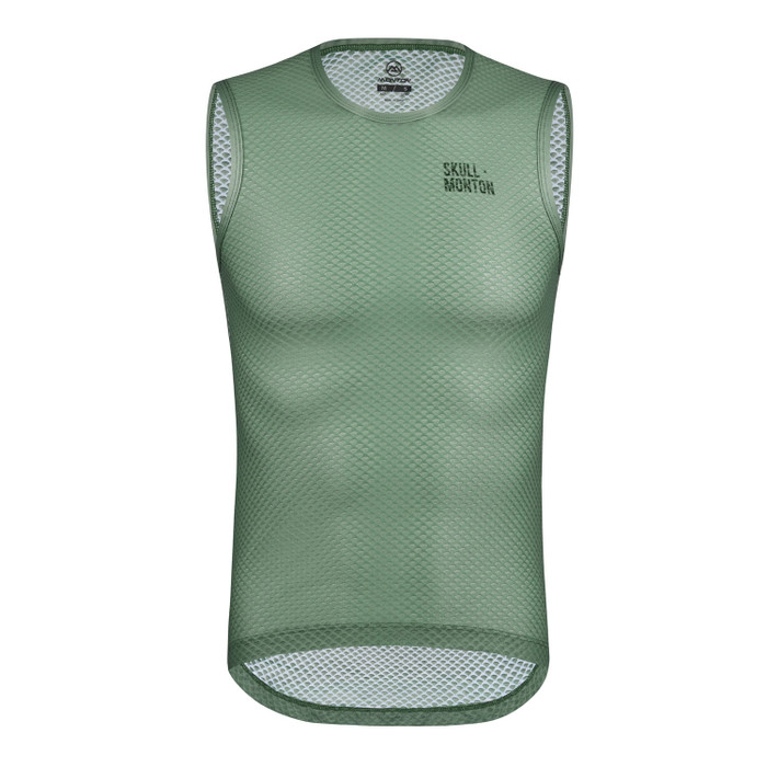 Men's Urban+ Colours Sleeveless Base Layer - grey/green