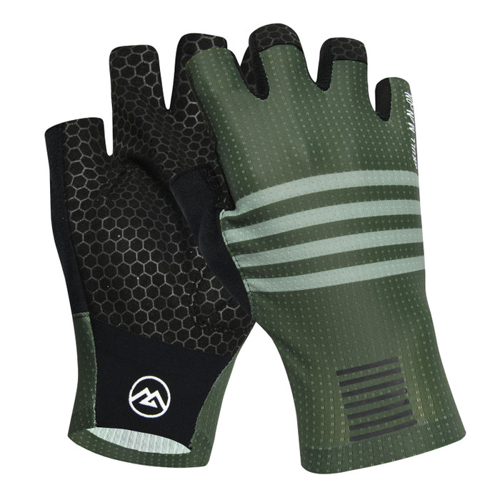 Urban+ Colours Half Finger Gloves - grey/green