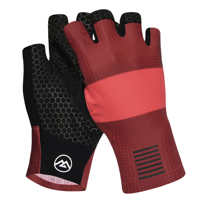 Urban+ Colours Half Finger Gloves - red