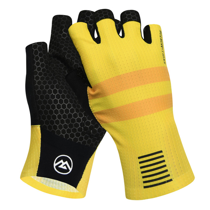 Urban+ Colours Half Finger Gloves - yellow