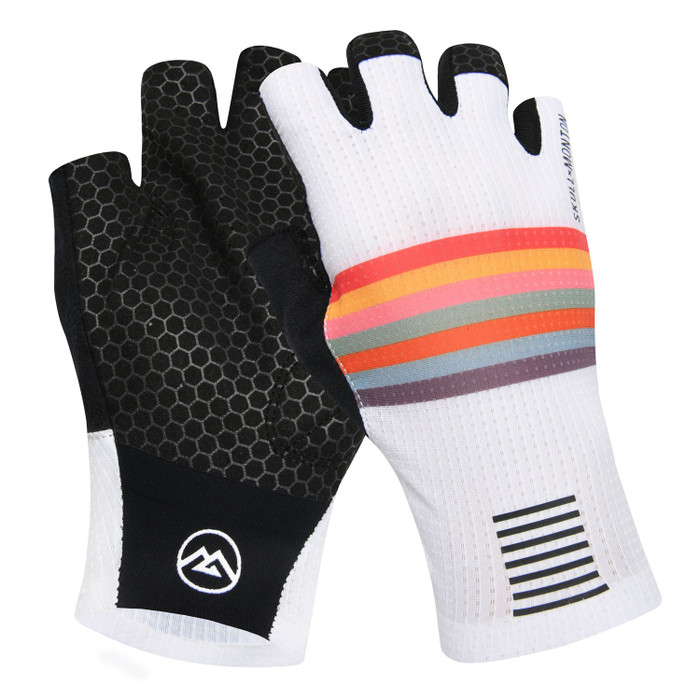 Urban+ Colours Half Finger Gloves - white
