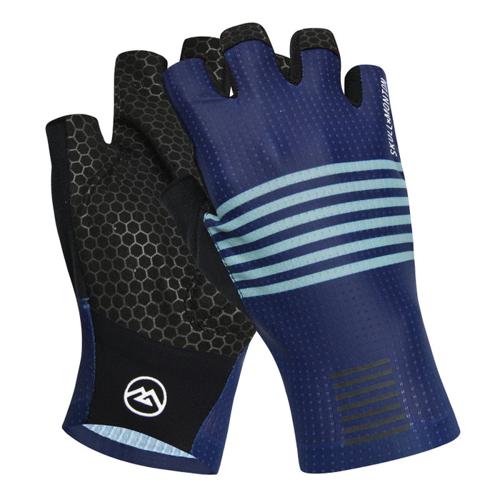 Urban+ Colours Half Finger Gloves - light steel blue