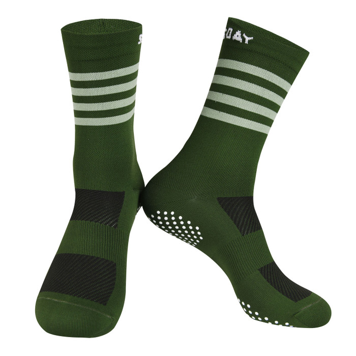 Colours Knitted Socks - grey/green