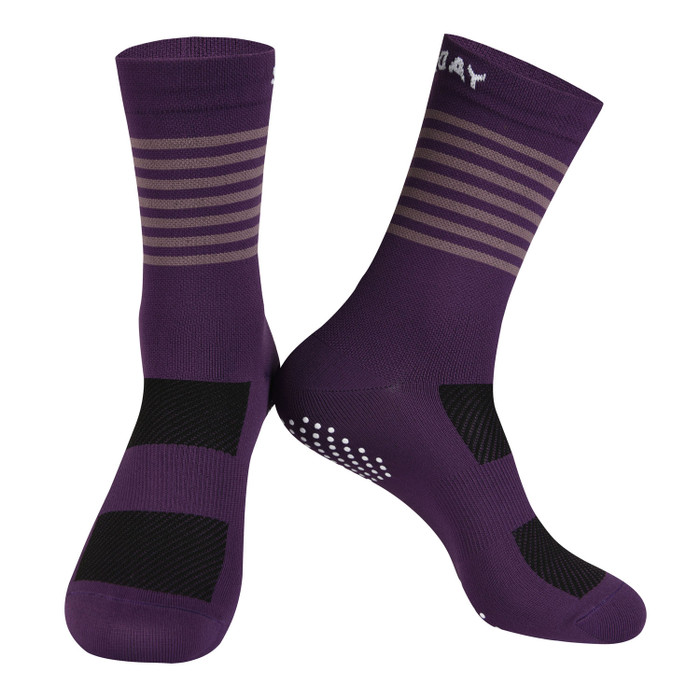Colours Knitted Socks - purple
