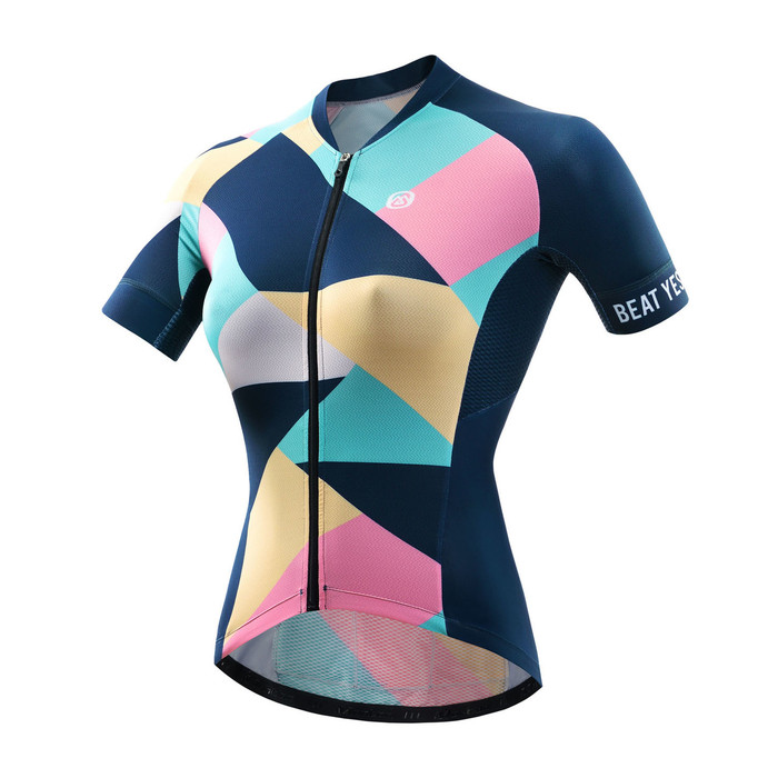 Women's PRO Coloured Glaze Blue S/S Jersey