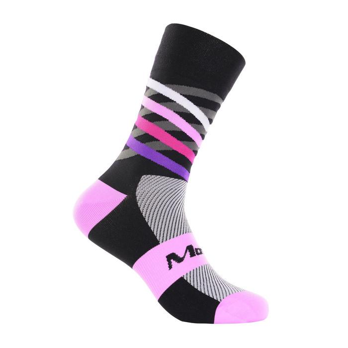 Dimensions purple/pink/black mix Socks