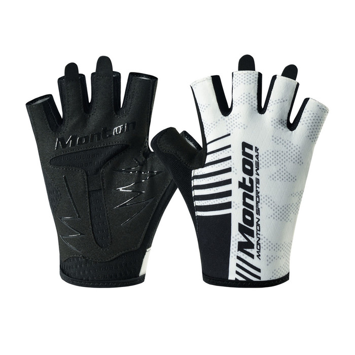 Carter Half Finger Cycling Gloves - white