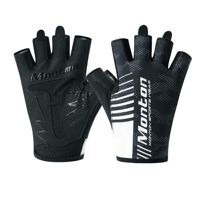 Carter Half Finger Cycling Gloves - black