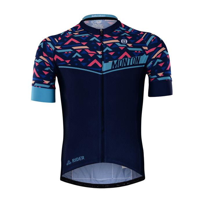 Men's RIDER Blue Wave S/S Jersey