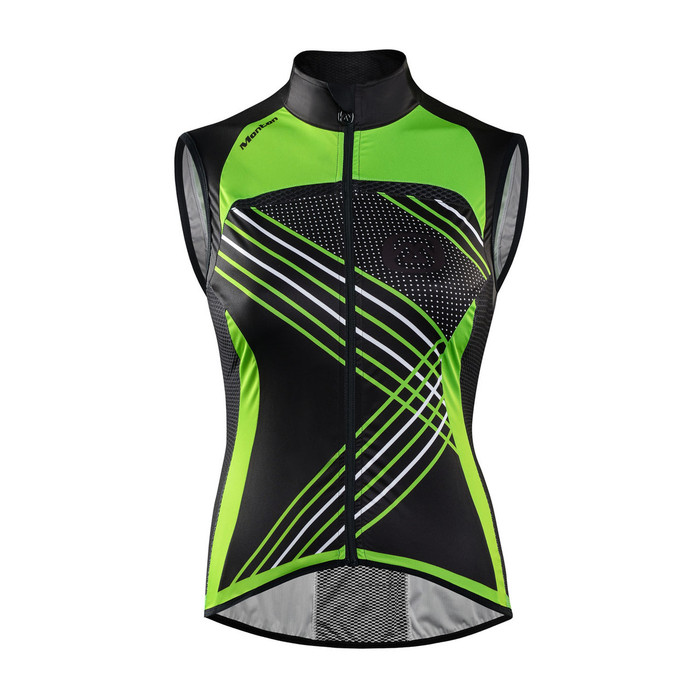 Women's Antelao Neon Green Windproof Gilet