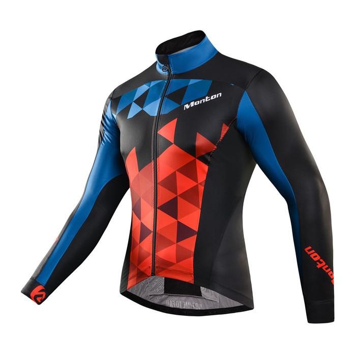 Men's Giau Red/Blue Windbreaker Jacket