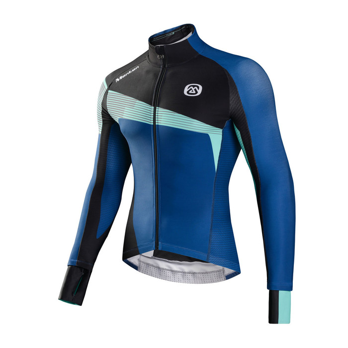 Men's REVO Ortles Black/Blue Thermal Jersey