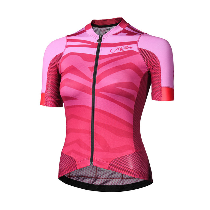 Women's 2018 Urban+ Furious Waves purplish red S/S Jersey