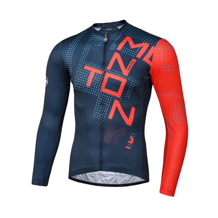 Men's 2018 Lifestyle Tempo l/s Jersey - red/blue