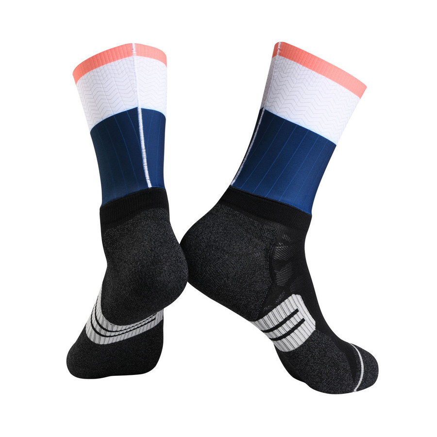 Urban+ 2019 Ripple Socks - blue/white