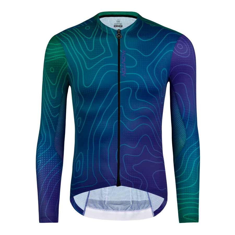 Men's 2019 Urban+ ContourLine l/s Jersey - blue/green