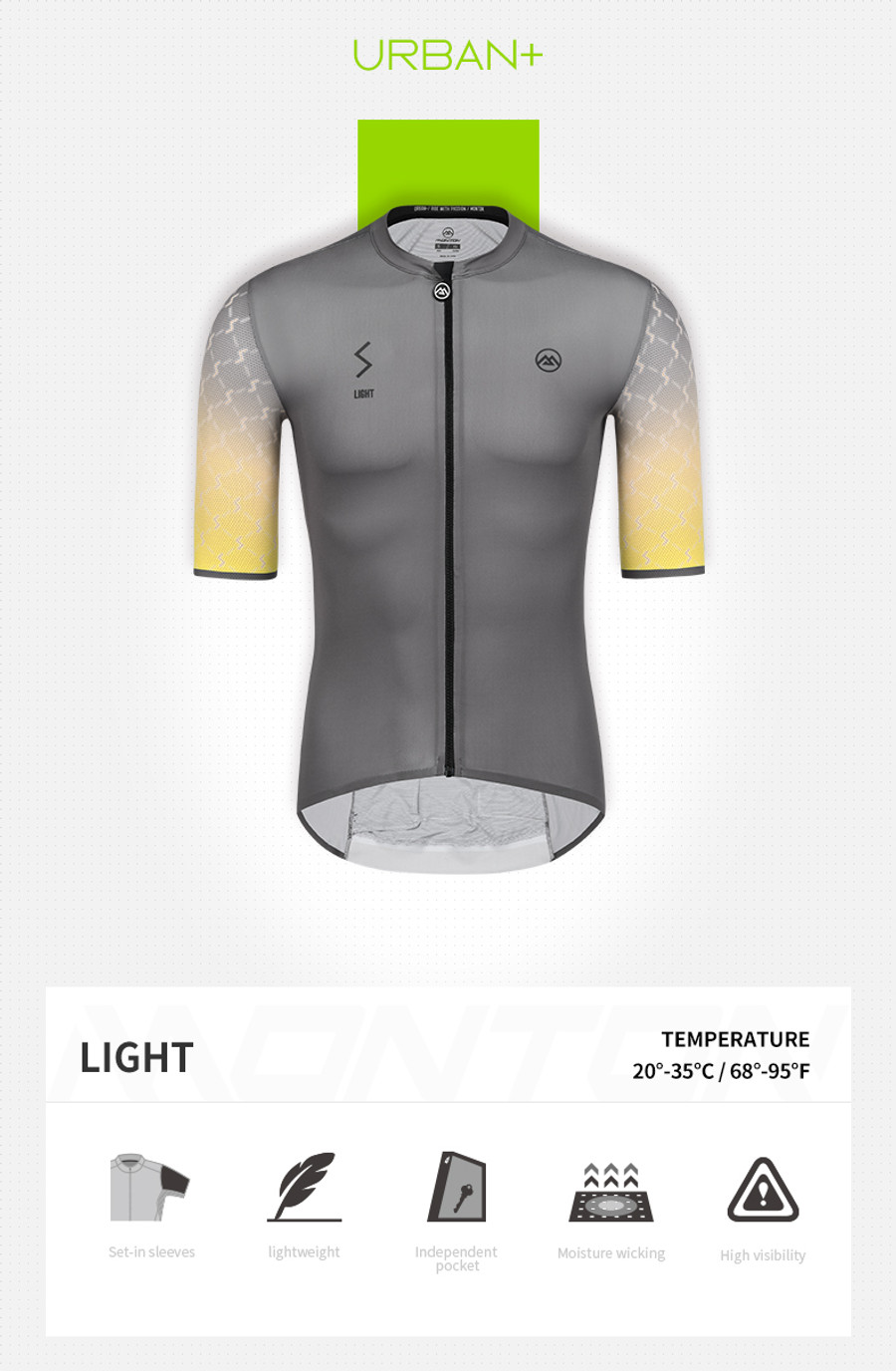 Men's Urban+ Light Jersey - dark grey