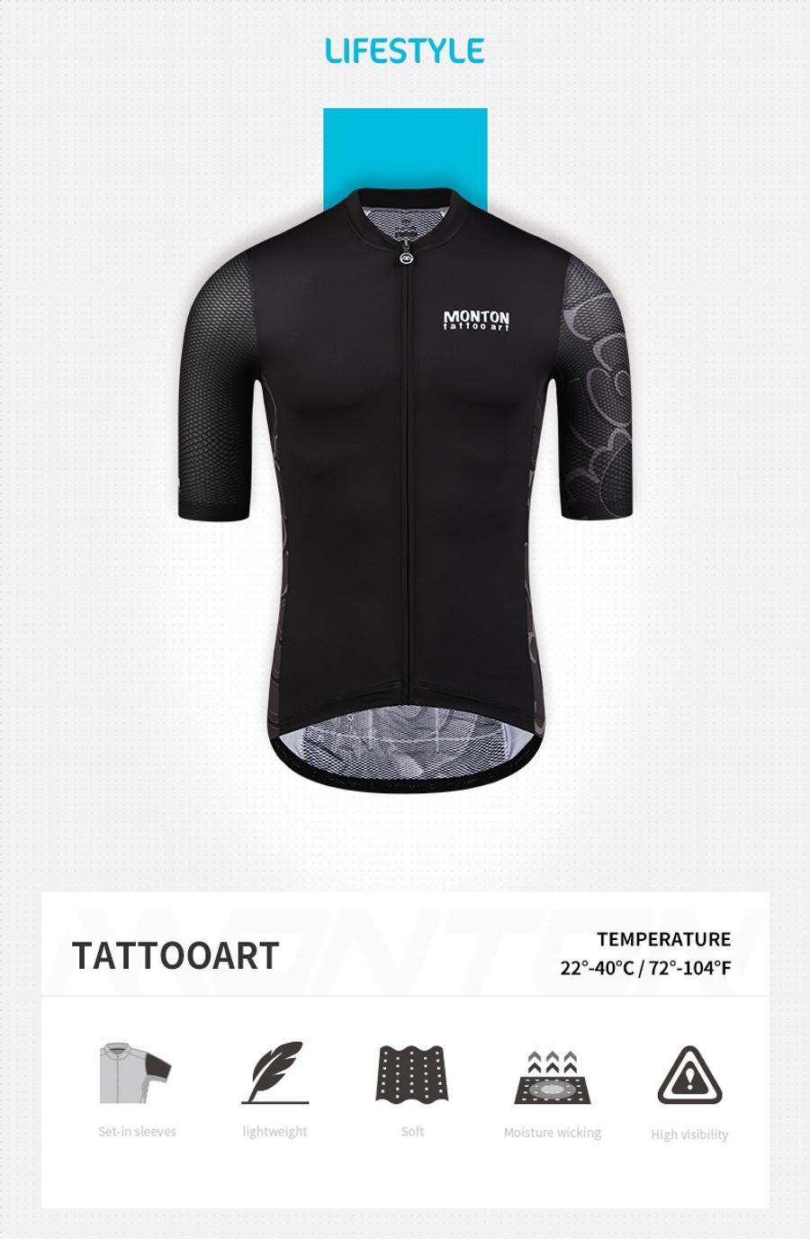 Men's Lifestyle Tattoo Art Jersey - black