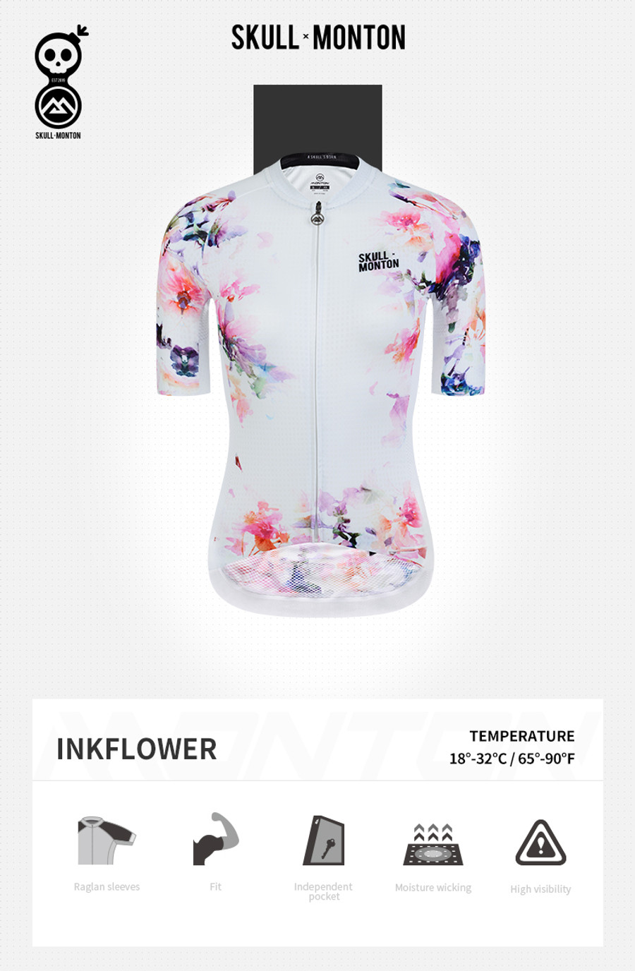 Women's Urban+ Ink Flower Jersey - white