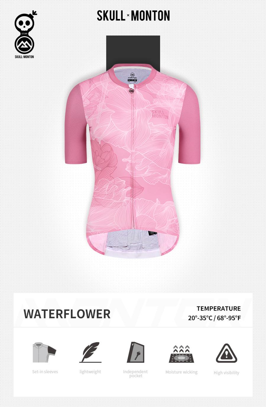 Women's Urban+ Water Flower Jersey - coral