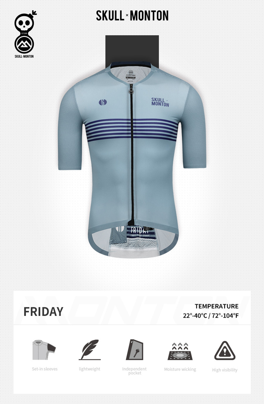 Men's Urban+ Colours Jersey - light steel blue