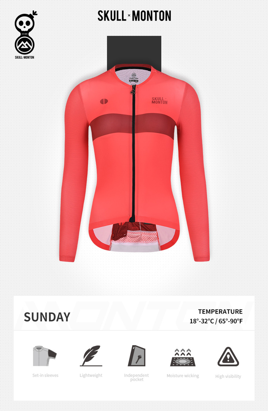 Women's Urban+ Colours l/s Jersey - red