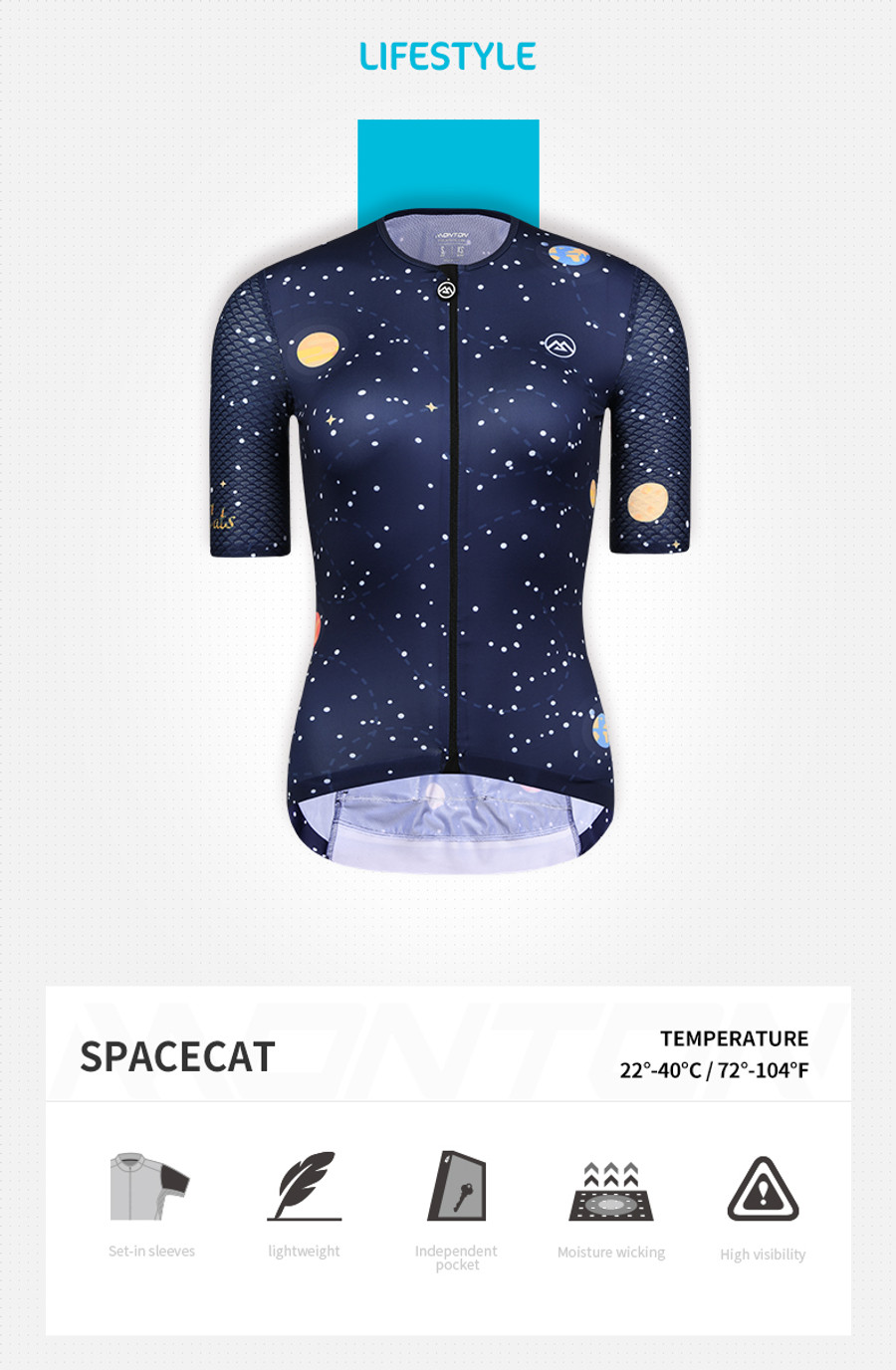 Women's Lifestyle Space Cat Jersey