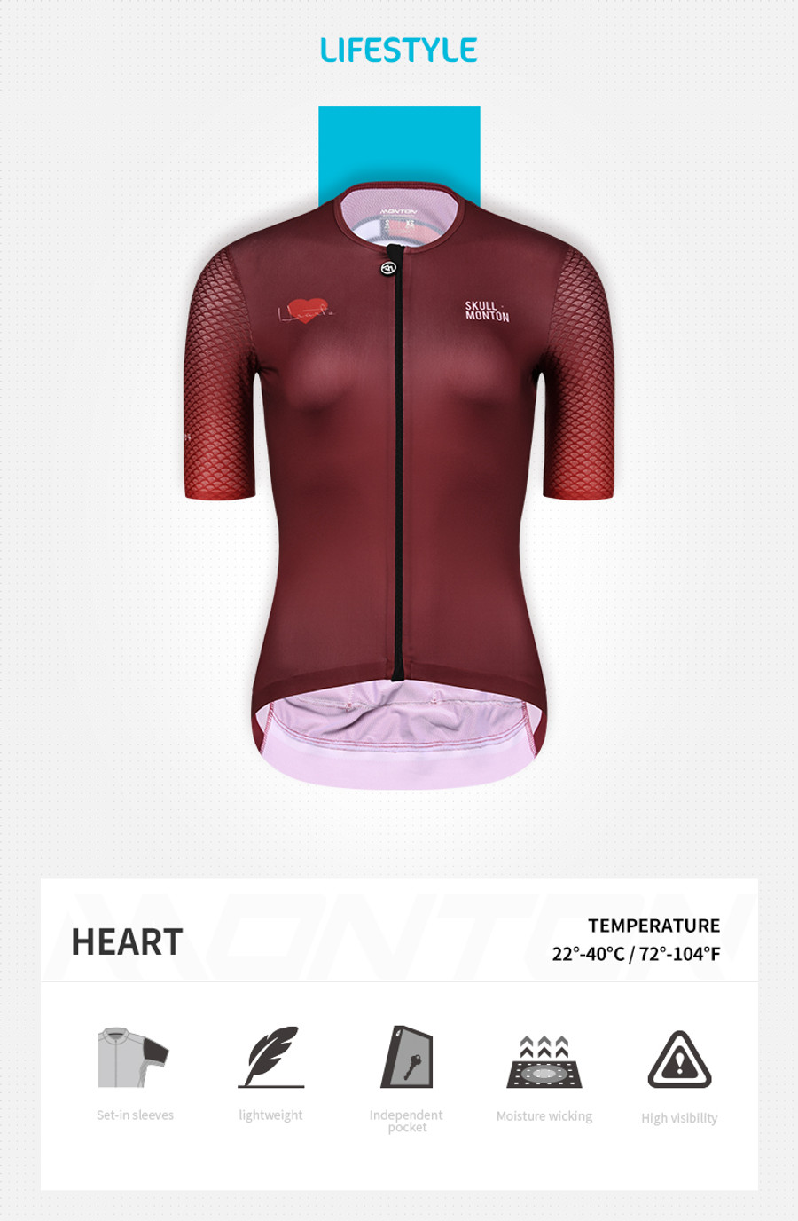 Women's Lifestyle Hearts Jersey