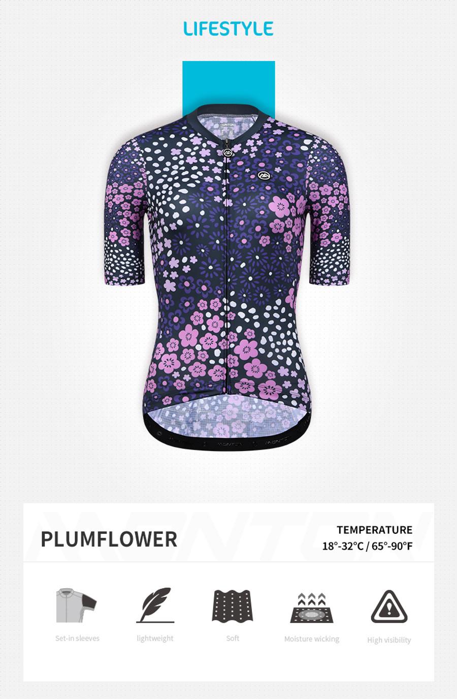 Women's Lifestyle Plum Flower Jersey