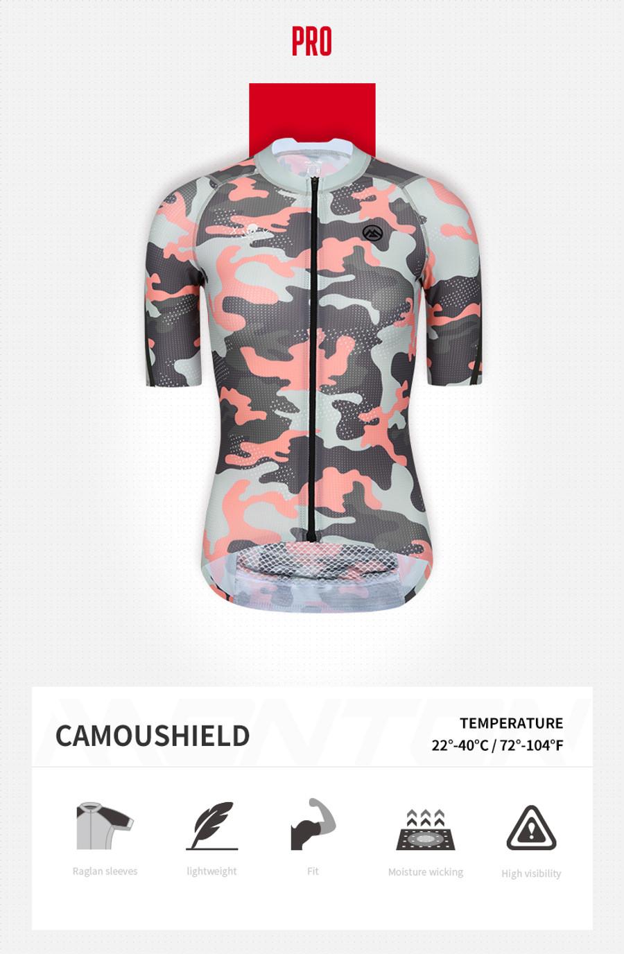 Women's PRO Camou Shield Jersey - Red/Green