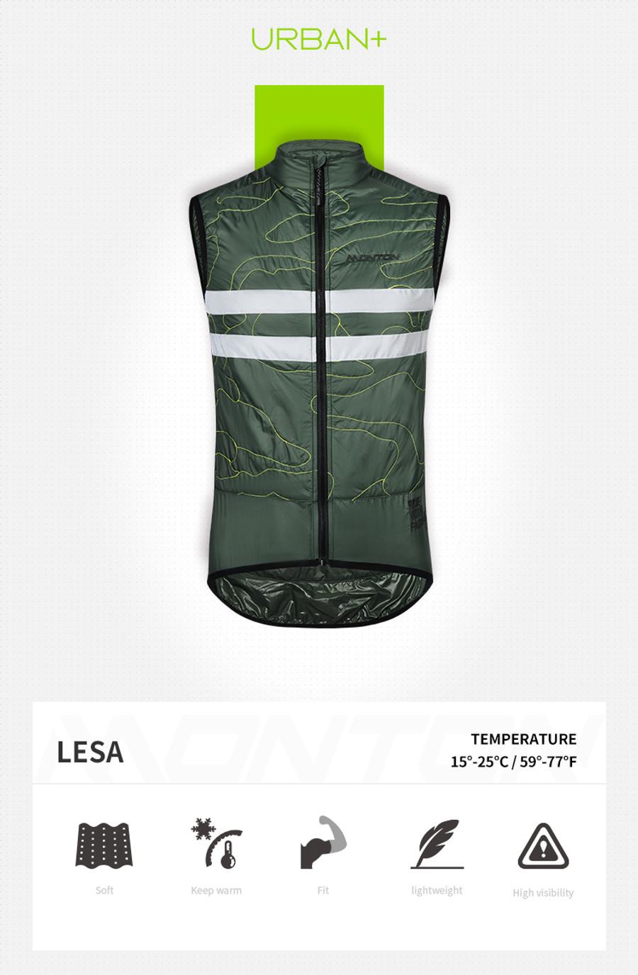 Men's Urban+ Lesa Thermal Gilet - green