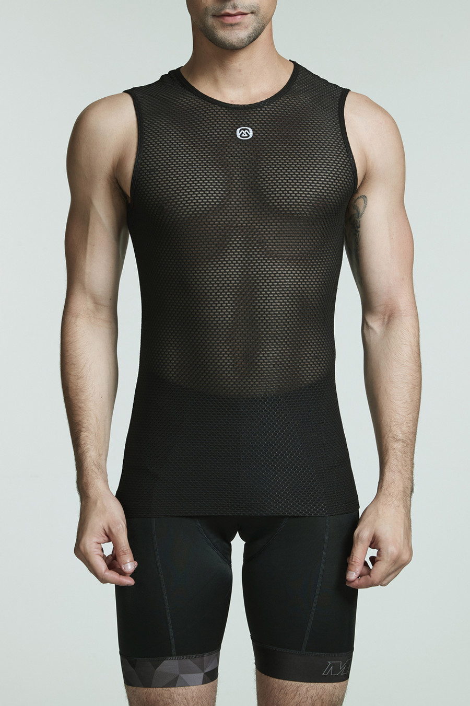Men's Endless Sleeveless Base Layer - black