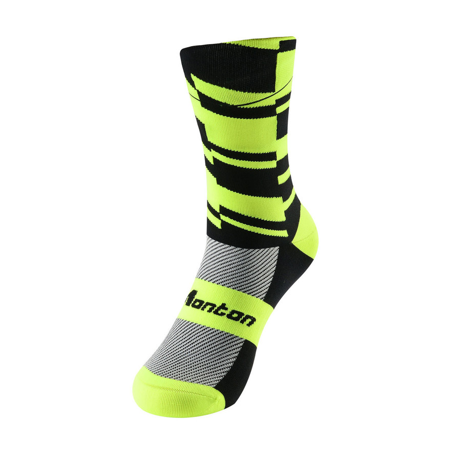 Fearless Cycling Socks - fluorescent yellow/black