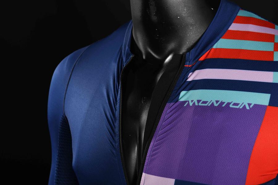 Men's 2018 Urban+ Mondrian blue S/S Jersey