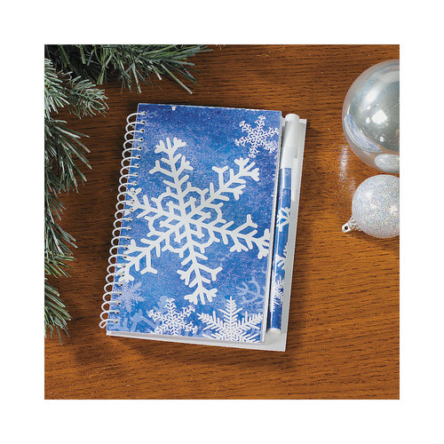 Snowflake Notebook with Pen