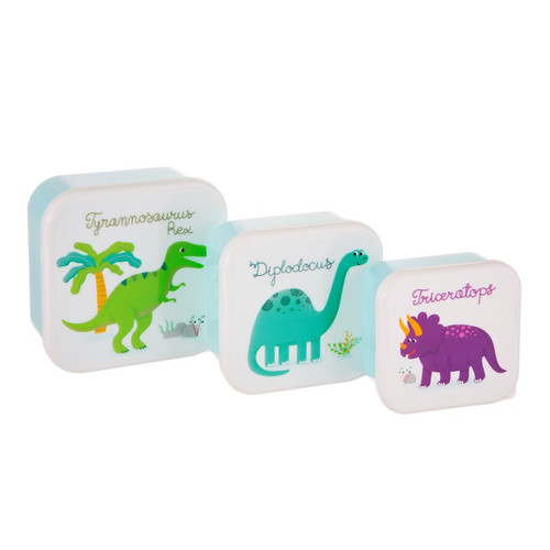 Roarsome Dinosaur Lunch Boxes Set of Three