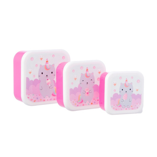Caticorn Lunch Boxes Set of Three