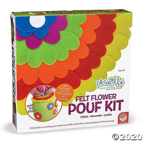 Felt Flower Pouf Kit