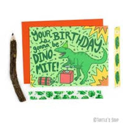 Dino Mite Birthday Card