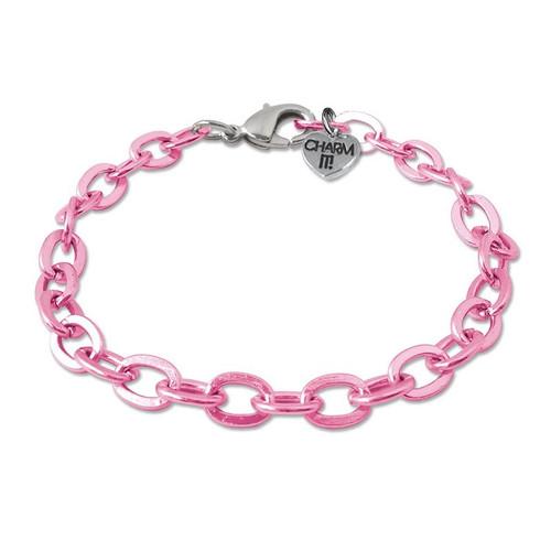 Charm Bracelet: Pink Link