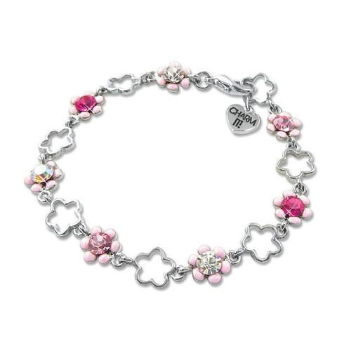 Charm Bracelet: Pink Flower