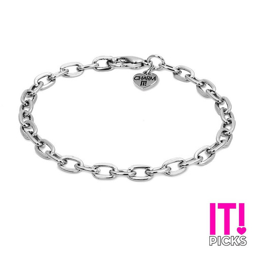 Charm Bracelet: Silver Link