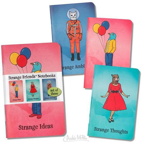 Strange Friends Trio of Notebooks