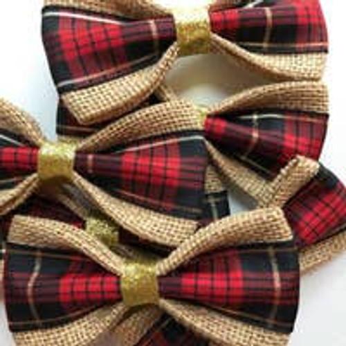 Pet Bow Tie: Tartan Plaid