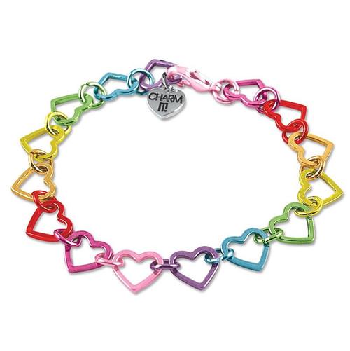 Charm Bracelet: Heart Rainbow
