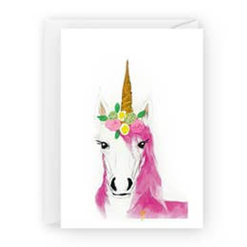Unicorn with Flowers Card