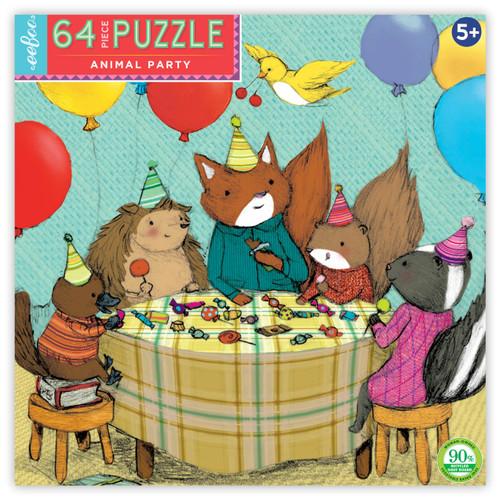 Animal Party 64 Piece Puzzle